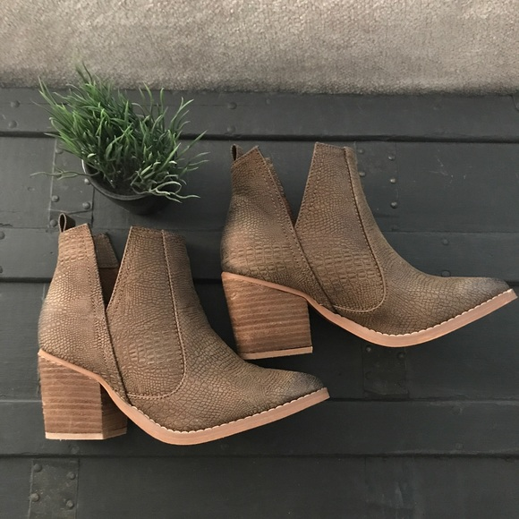 8dc80a7c374f3 Not Rated Shoes   Shea Side Cutout Bootie   Poshmark